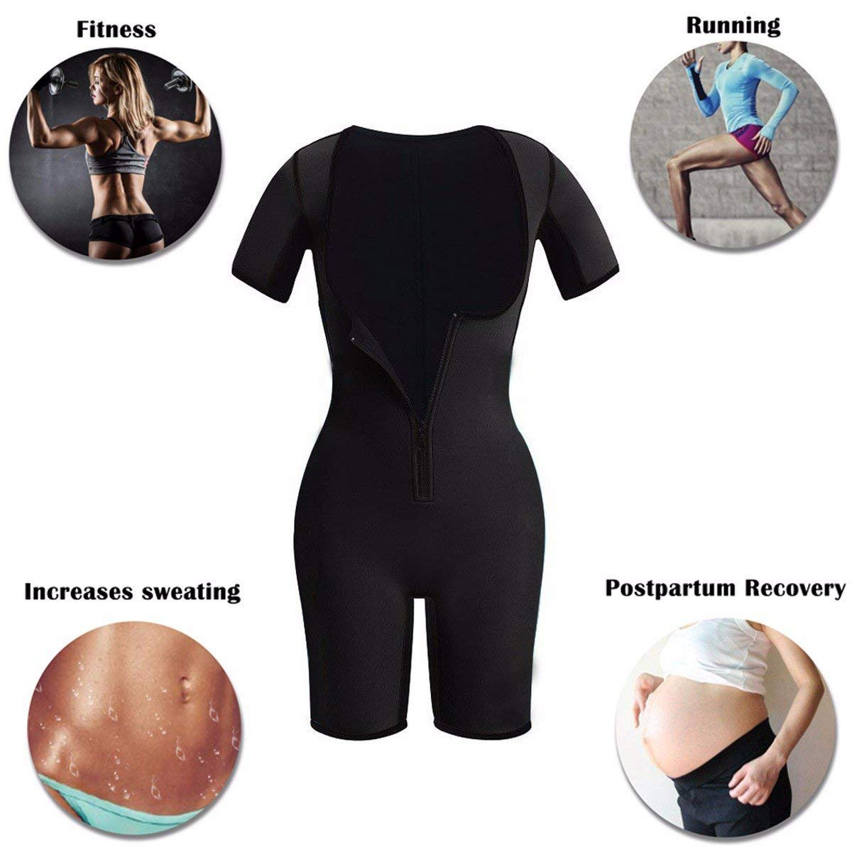 4aa4d822abf Full Body Shapewear Sauna Suit Neoprene Weight Loss Gym Shapers With Sleeve